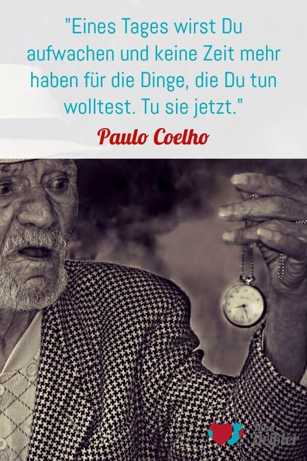 Zitat Nina Deißler Paul Coelho Zeit