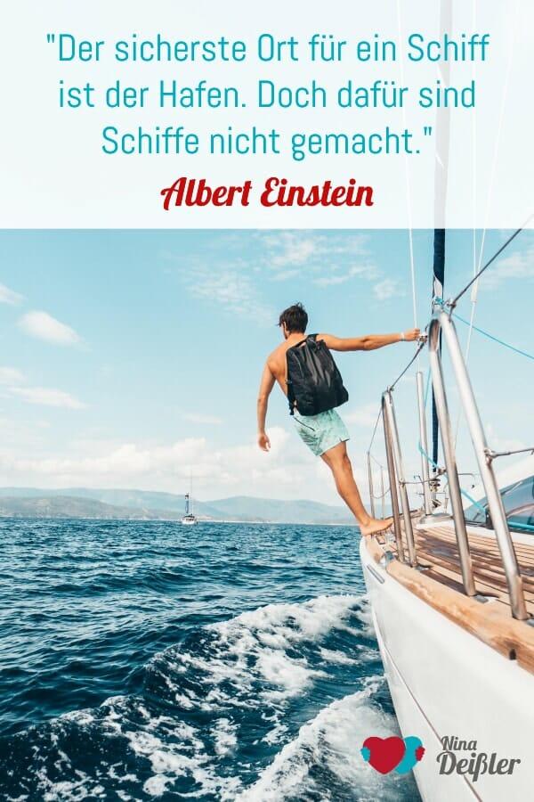 Zitat Nina Deissler Albert Einstein Schiff Wachstum